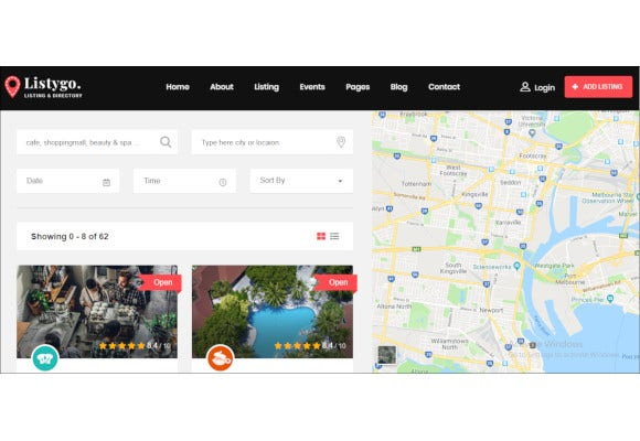 directory and listing bootstrap template
