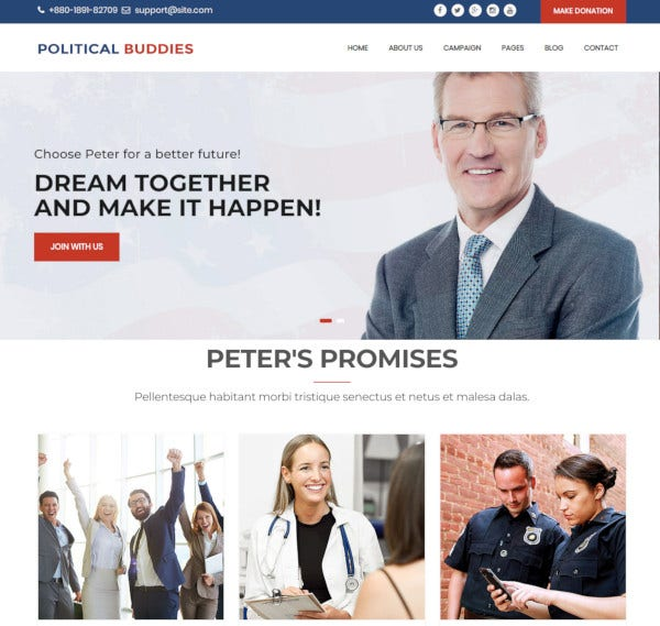 election-campaign-activism-html5-template