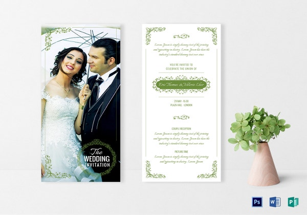 elegant wedding invitation card templat