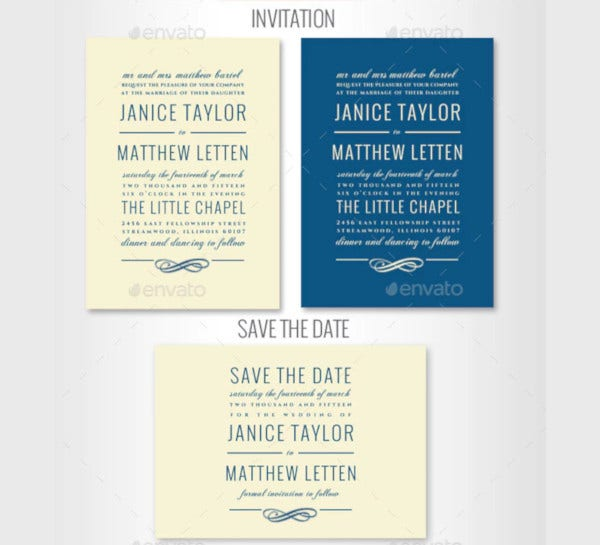 elegant wedding invitation set