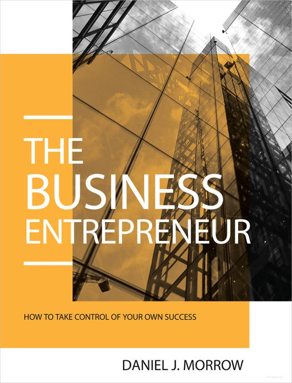 entrepreneur book cover template