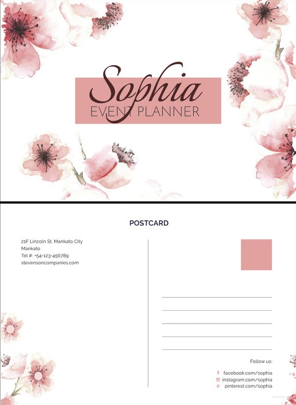 event-planner-postcard-template