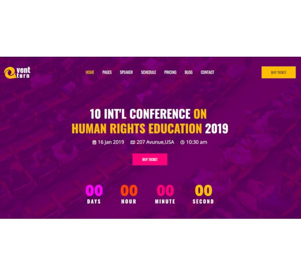 event and conference html5 template
