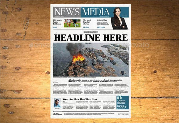 11  newspaper article templates