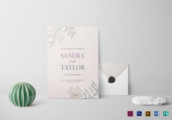 fall wedding invitation template1