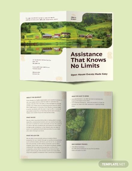 farm bi fold brochure template