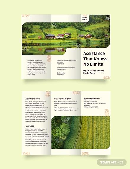 farm tri fold brochure template