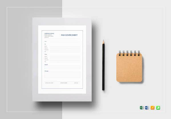 fax cover sheet template4