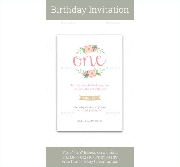 first birthday invitation2