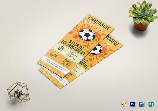 football tournament ticket template