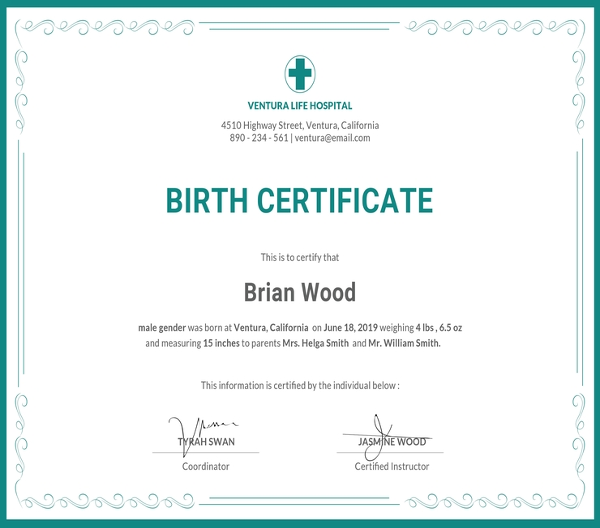 free birth certificate template1