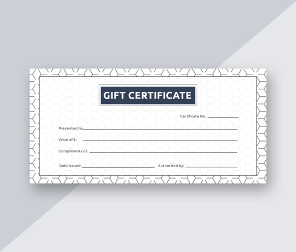 free blank gift certificate template