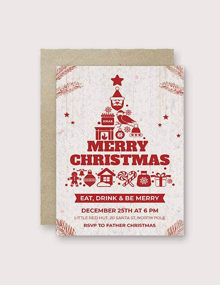 free creative christmas invitation