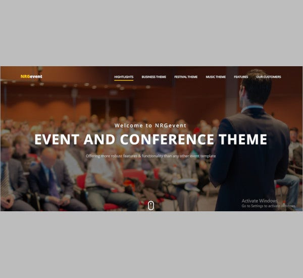 Free Demo Download Conference & Event Template