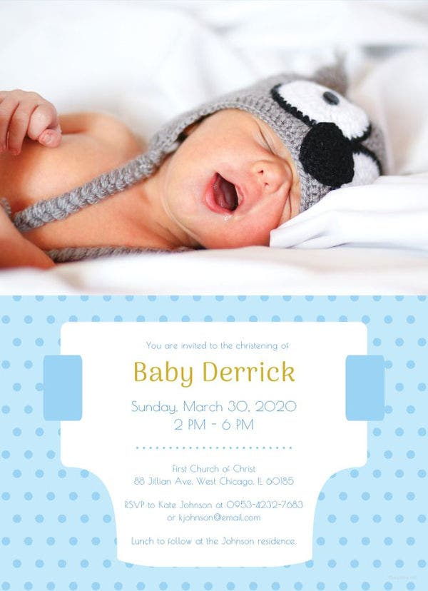 10 Diaper Invitation Templates Free Sample Example Format