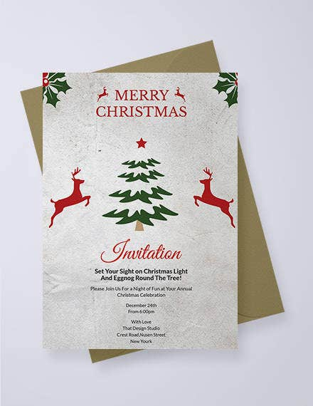 free elegant christmas invitation