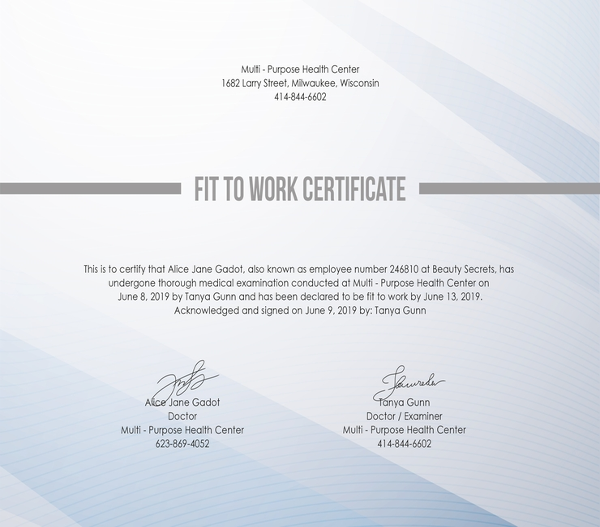free-fit-to-work-certificate-template