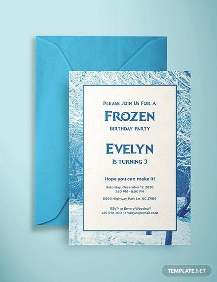 Fine 24 Frozen Birthday Invitation Templates Psd Ai Vector Eps Personalised Birthday Cards Paralily Jamesorg