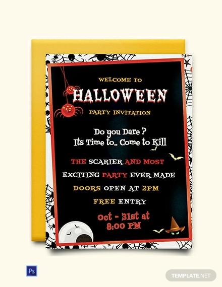 free halloween party invitation