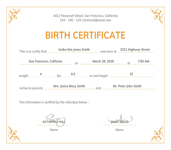 freeofficialbirthcertificatetemplate1