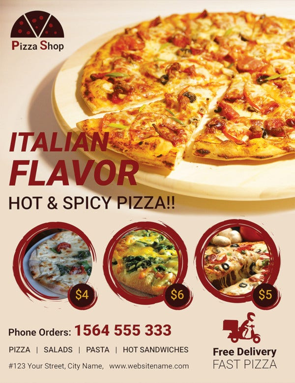 free pizza shop flyer template