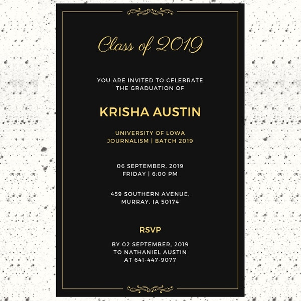 free sample graduation announcement invitation