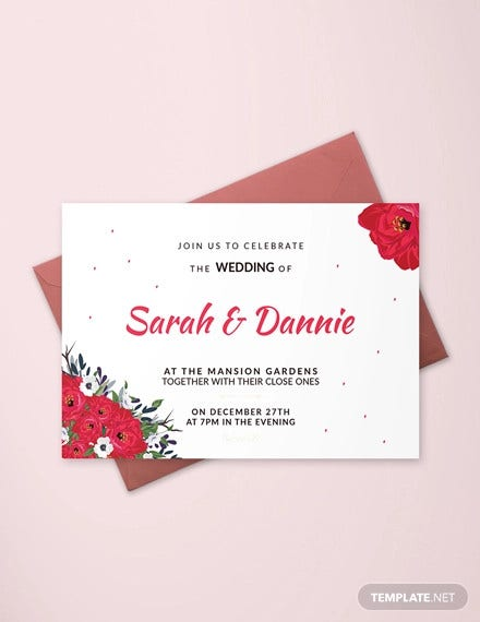 free sample wedding invitation card template