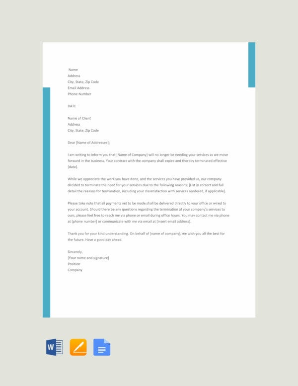 free service termination letter template3