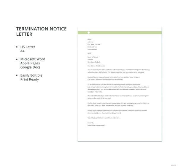 free-termination-notice-letter-template
