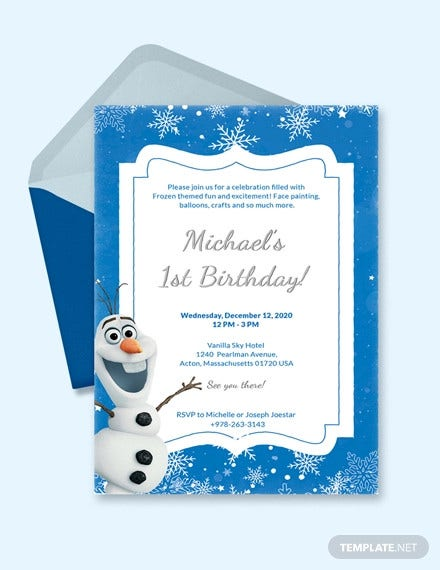 13 Frozen Invitation Templates Word Psd Ai Free