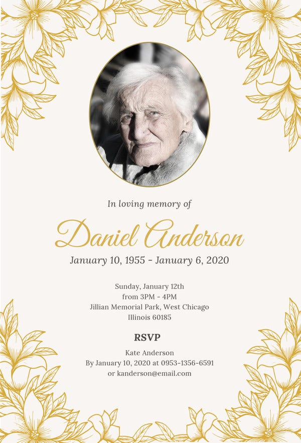 Funeral Ceremony Invitation Template
