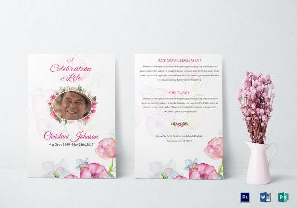 Printable Funeral Invitation Template  Celebration Of Life Templates