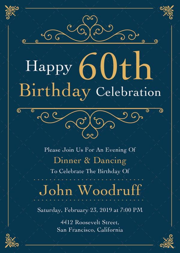 Adult Birthday Invitation Templates Free Sample Example - Happy birthday invitations templates