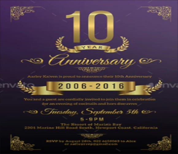 happy anniversary invitation