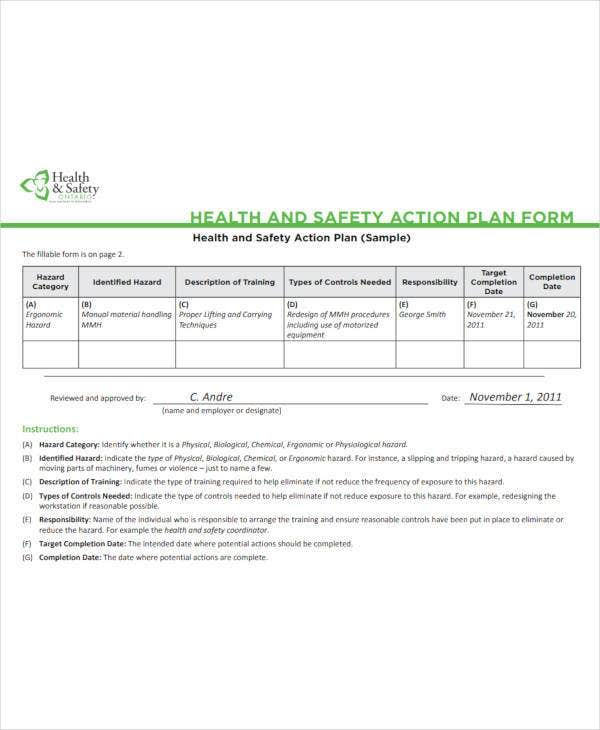 health-and-safety-action-plan-form