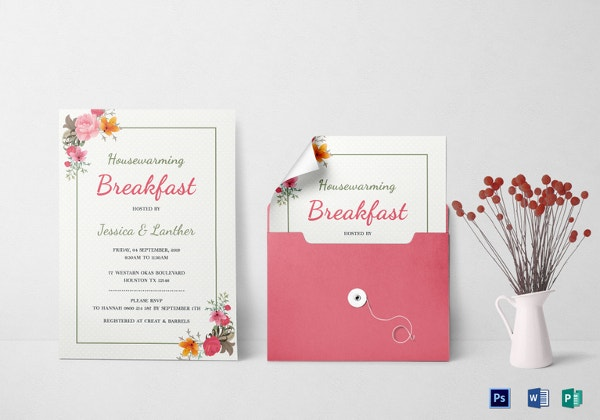 housewarming breakfast party invitation template