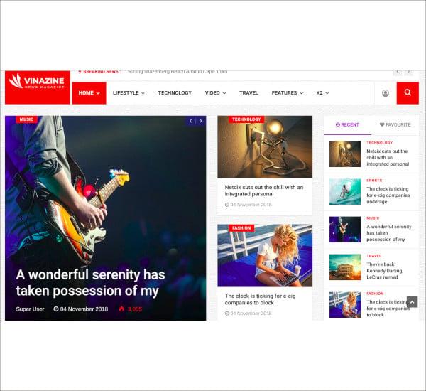 joomla news bootstrap magazine template