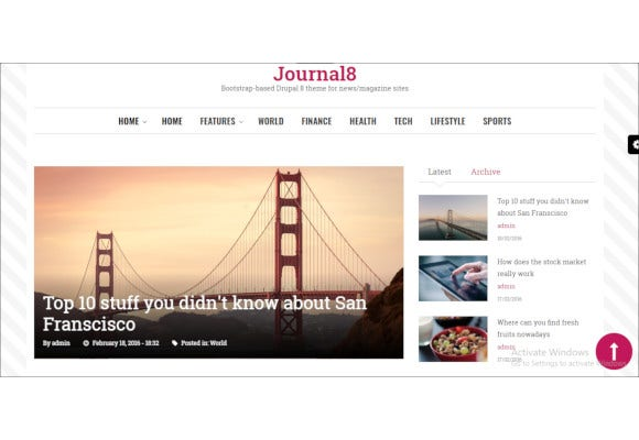 journal mobile first drupal theme