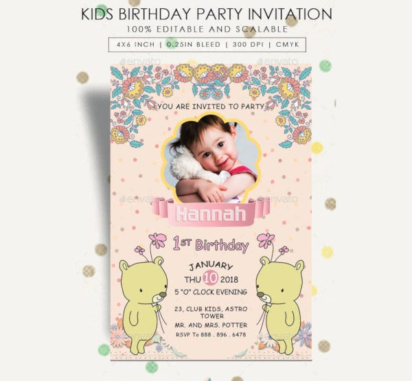 kids birthday party invitation1