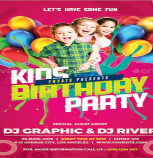 kids birthday party invitation2