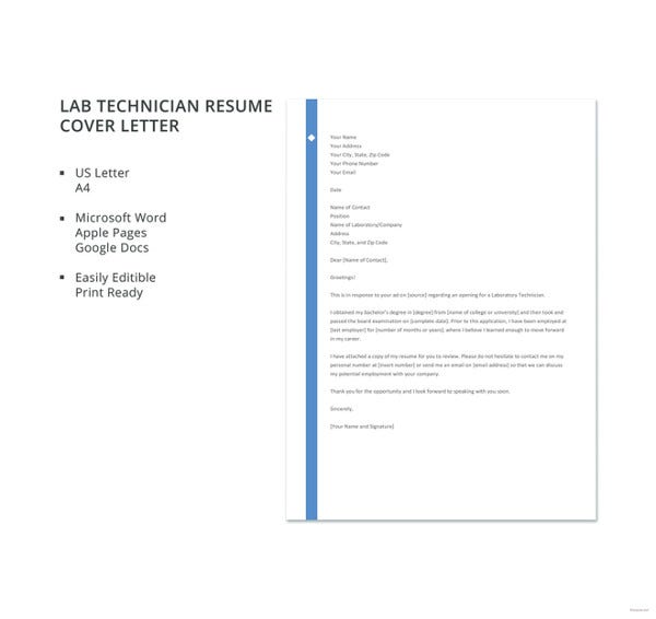 lab-technician-resume-cover-letter-template