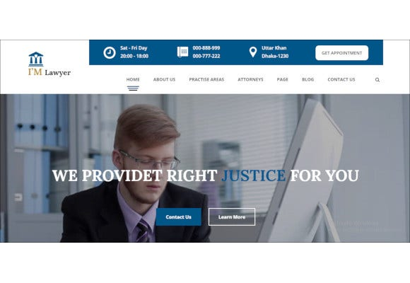 law agency lawyer attorneys html5 responsive template