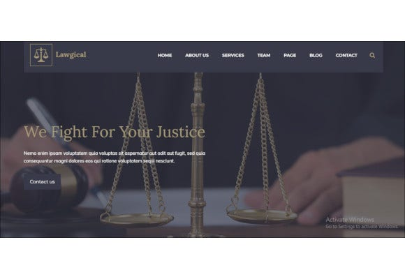 law legal attorney html5 template