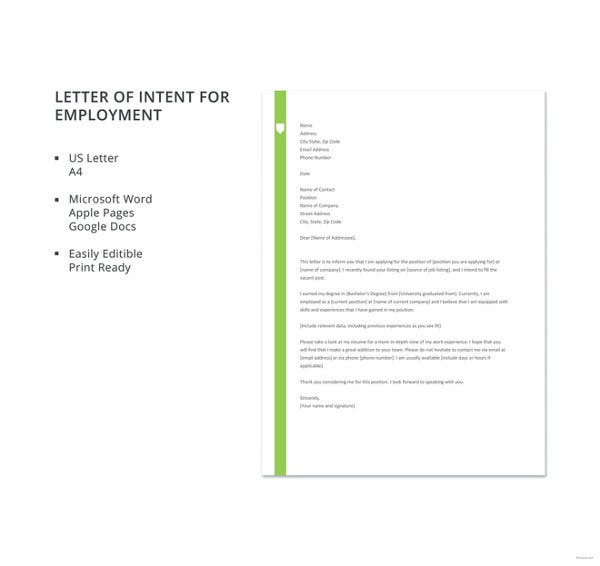 letter template of intent for employment1