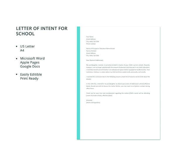 letter of intent template 2 31 letter of intent for a templates pdf doc free 1405