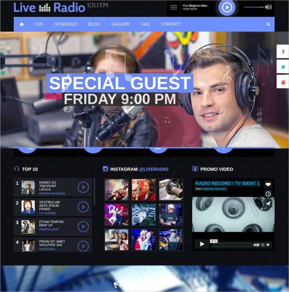 live radio music html 5 responsive template1