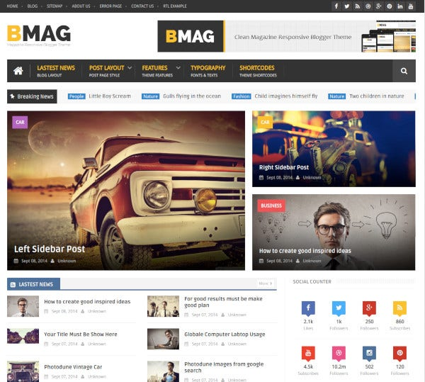 magazine responsive blogger template