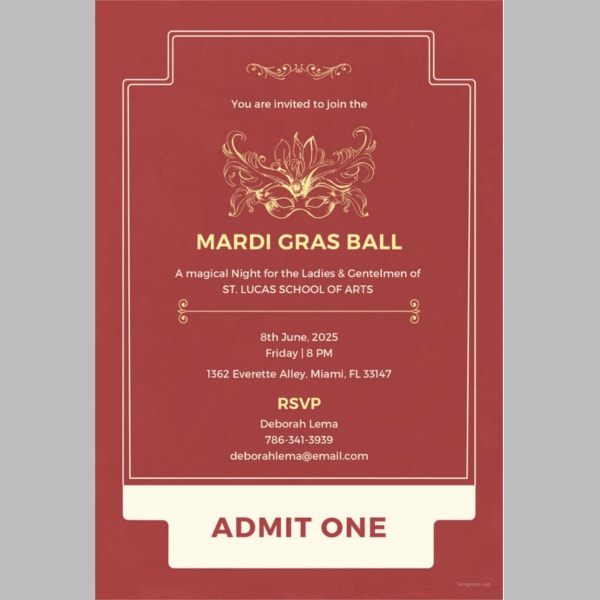 31+ Ticket Invitation Templates – Free Sample, Example, Format ...