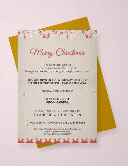 Merry Christmas Invitation Template