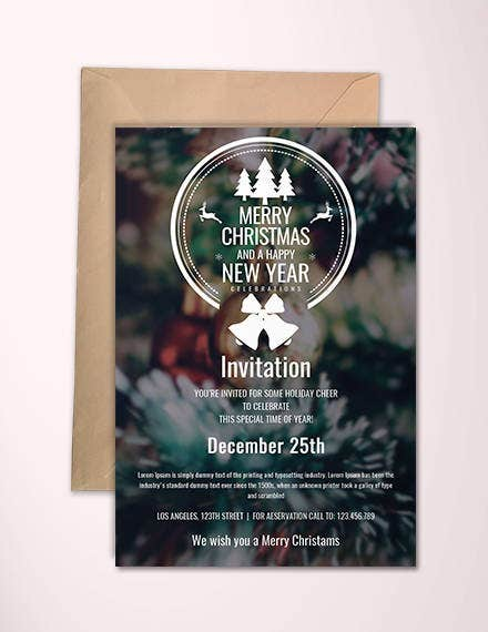 Minimal Christmas Invitation Template